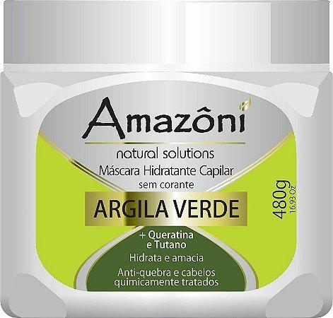 MÁSCARA RECONSTRUTORA AMAZONI ARGILA VERDE 480 GR