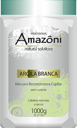 MÁSCARA RECONSTRUTORA AMAZONI ARGILA BRANCA 1 KG