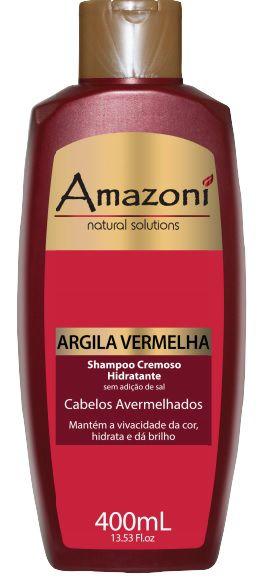SHAMPOO AMAZONI HIDRATANTE CREMOSO ARGILA VERMELHA 400 ML