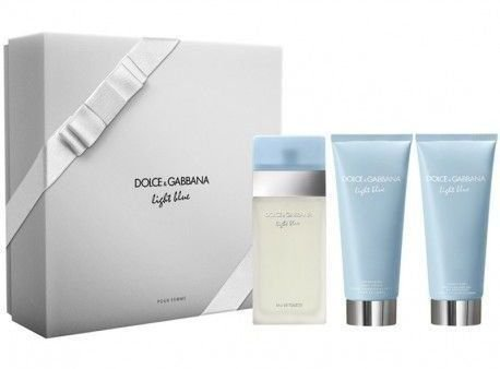 Kit Light Blue Feminino Eau De Toillete 100ml + Body Cream 100ml + Shower Gel 100ml Dolce Gabbana