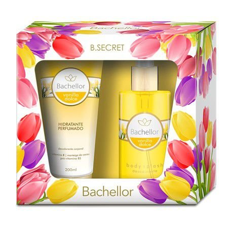 Kit Vanilla Dolce Hidratante perfumado e Body Splash - Bachellor