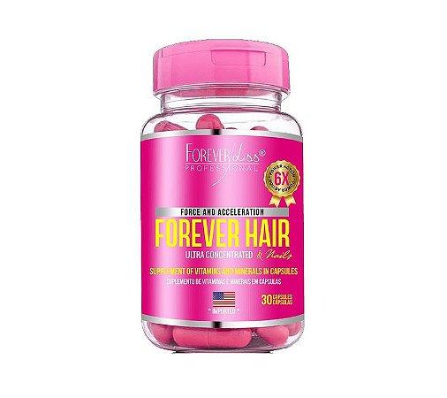 Forever Hair Suplemento Vitamínico Crescimento Capilar Tratamento 30 dias - Forever Liss
