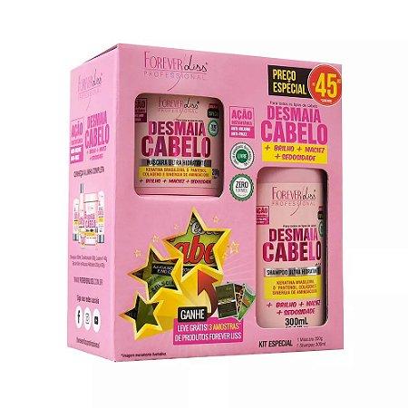Kit Especial Desmaia Cabelo Forever Liss com Shampoo 300ml e máscara 200g