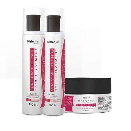 Kit Crescimento ( Shampoo + Balm + Máscara) - Mister Hair