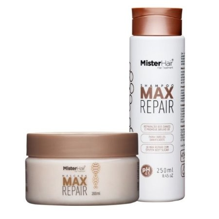 kit Max Repair (Shampoo e Máscara) - Mister Hair