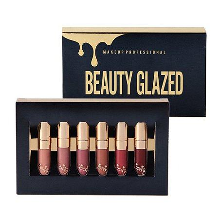 Kit batons Beauty Glazed Kissing 24h 6 peças