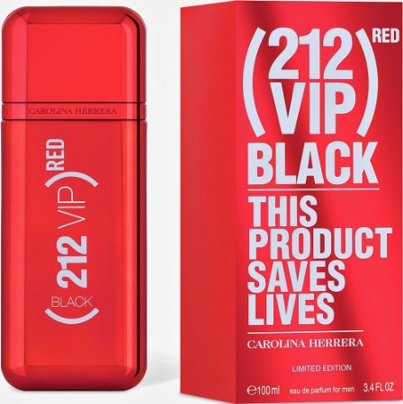 212 VIP Men Back Red Edição Limitada Carolina Herrera