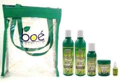 Boé - Kit Crece Pelo (5 produtos e bolsa)