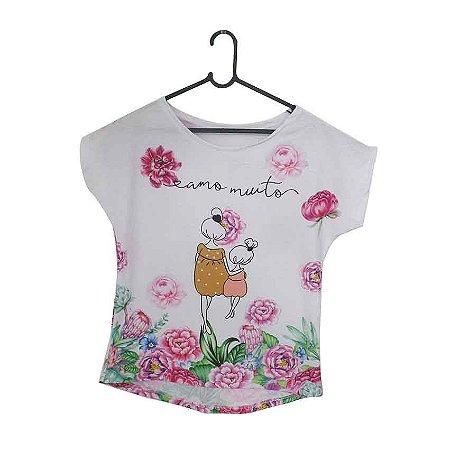T-Shirt - Vestido, Adulto - Infantil - Feminino - Tal Mãe Tal Filha Cód. 5195