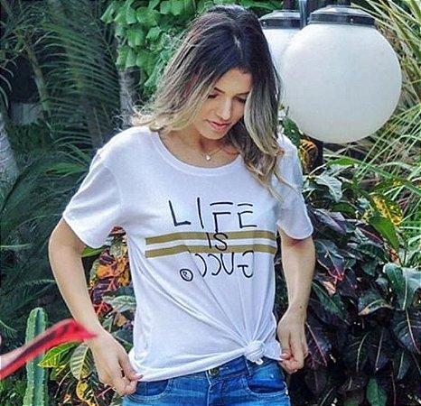 T-Shirt Atacado LIFE IS GUCCY - Adulta - Várias cores de tecido