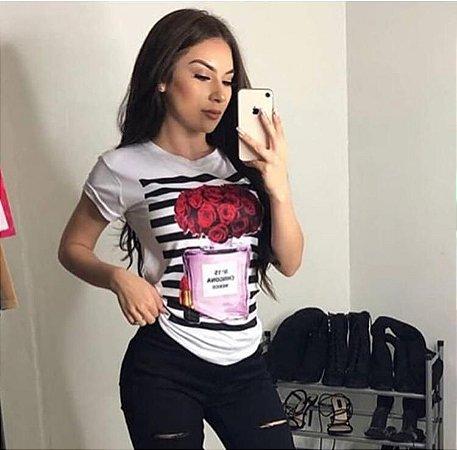 T-Shirt Atacado CHANNEL PERFUME - Adulta - Várias cores de tecido