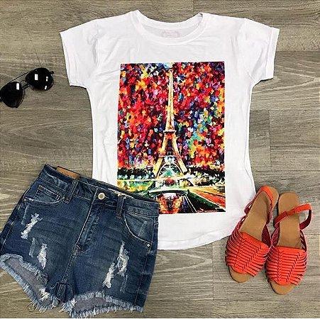 T-Shirt Atacado PARIS - Adulta - Várias cores de tecido