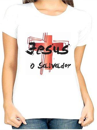 T-Shirt Atacado JESUS O SALVADOR - Adulta - Várias cores de tecido