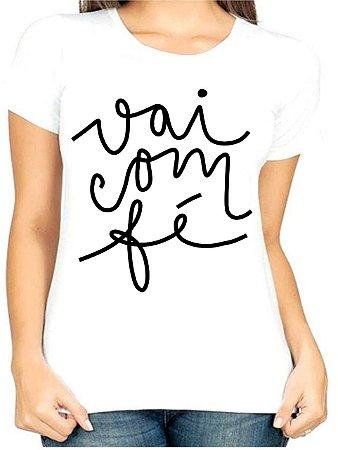 T-Shirt Atacado VAI COM FÉ 3 - Adulta - Várias cores de tecido