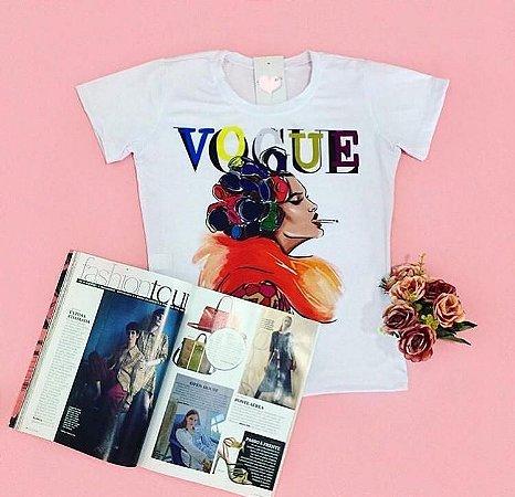 T-Shirt Atacado VOGUE - Adulto - Várias cores de tecido