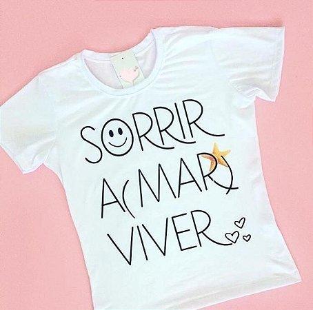 T-Shirt Atacado SORRIR A MAR VIVER - Adulto - Várias cores de tecido