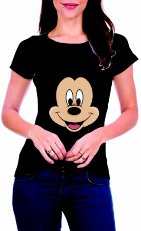 T-Shirt Atacado MICKEY FACE - Adulto - Várias cores de tecido