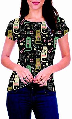 T-Shirt Atacado GATINHOS - Adulto - Várias cores de tecido