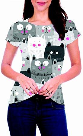 T-Shirt Atacado GATINHOS 2 - Adulto - Várias cores de tecido