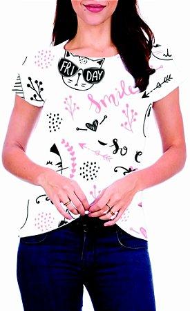 T-Shirt Atacado CAT FRI DAY - Adulto - Várias cores de tecido