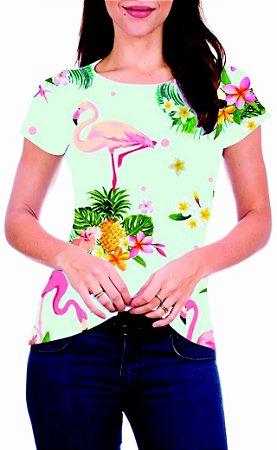 T-Shirt Atacado FLAMINGOS 3 - Adulto - Várias cores de tecido