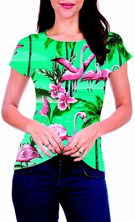 T-Shirt Atacado FLAMINGOS 4 - Adulto - Várias cores de tecido