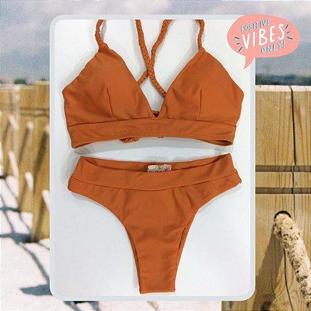 Bikini Positive Vibes - Sand - P, M e G