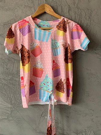 T-shirt Nozinho Candy - Tam. Único (M) - Pronta Entrega