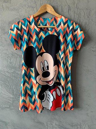 T-shirt Mickey Geo - Tam. (M) - Pronta Entrega