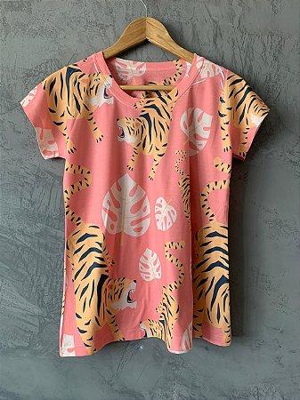 T-shirt Tiger Pink - Tam. (M) - Pronta Entrega