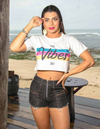 T-SHIRT CROPPED VIBER - PRONTA ENTREGA - EXCLUSIVAS
