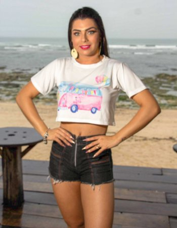 T-SHIRT CROPPED KOMBI - PRONTA ENTREGA - EXCLUSIVAS