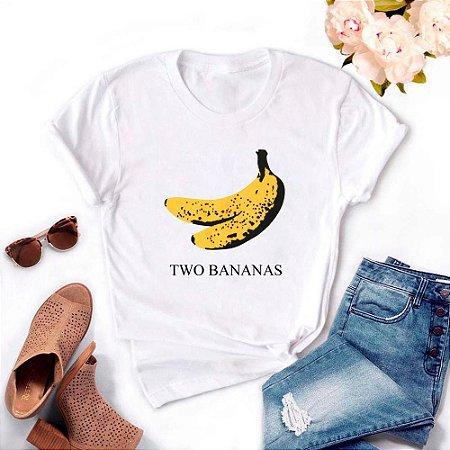 Tshirt Feminina Atacado TWO BANANAS  - TUMBLR