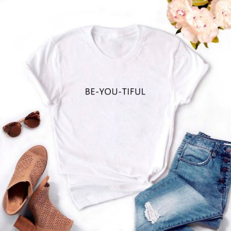 Tshirt Feminina Atacado BE-YOU-TIFUL  - TUMBLR