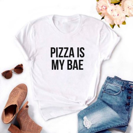 Tshirt Feminina Atacado PIZZA IS MY BAE  - TUMBLR