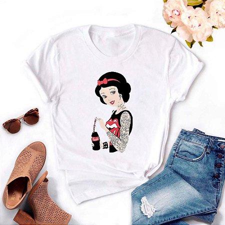 Tshirt Feminina Atacado BRANCA DE COKE  - TUMBLR