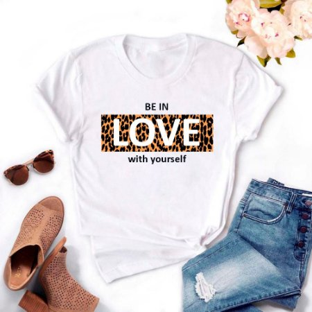 Tshirt Feminina Atacado BE IN LOVE  - TUMBLR