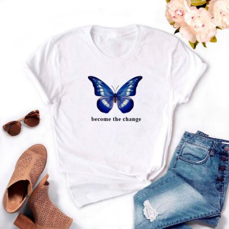 Tshirt Feminina Atacado BECOME THE CHANGE  - TUMBLR