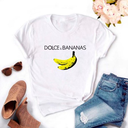 Tshirt Feminina Atacado DOLCE e BANANAS  - TUMBLR