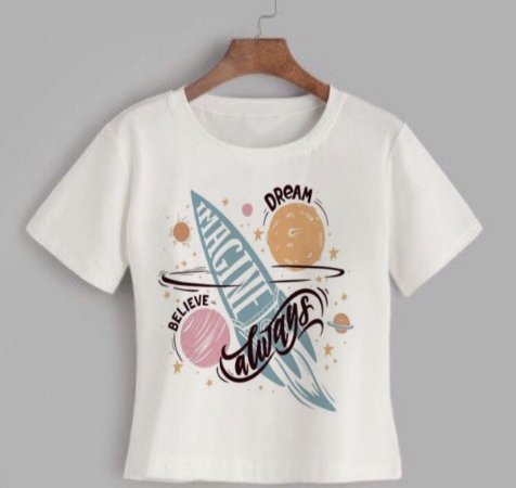 T-shirt DREAM - Tam.Único - Pronta Entrega