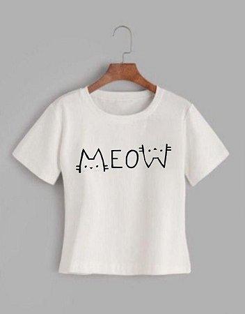 T-shirt MEOW - Tam.Único - Pronta Entrega