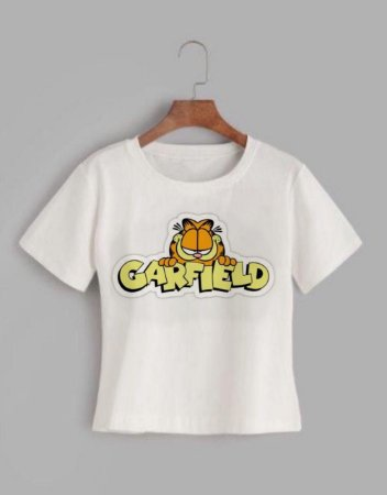 T-shirt GARFIELD - Tam.Único - Pronta Entrega