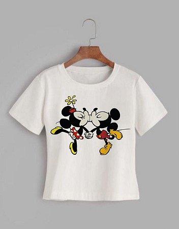 T-shirt MICKEY&MINNIE KISSES - Tam.Único - Pronta Entrega