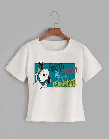 T-shirt SNOPPY - Tam.Único - Pronta Entrega