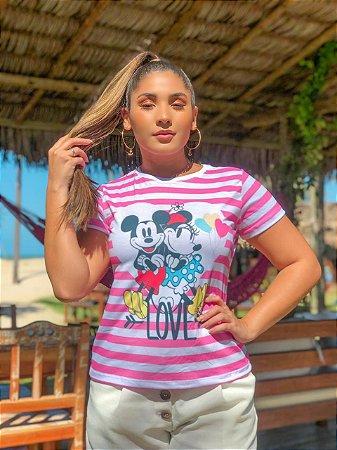 T-shirt DISNEY LOVE - Tam.Único - Pronta Entrega - Coleção Florescer