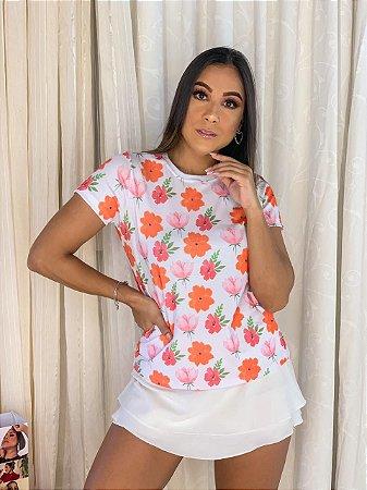 T-shirt FLORES- Tam.Único - Pronta Entrega - Coleção Florescer