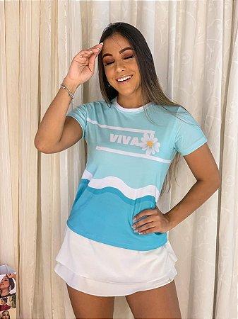 T-shirt VIVA- Tam.Único - Pronta Entrega - Coleção Florescer