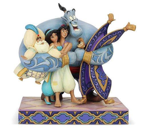Disney Traditions Aladdin Group Hug by Jim Shore Statue