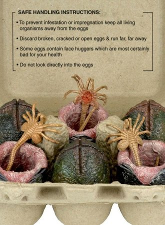 Xenomorph Egg Set - Alien - Collectible Replica (On Carton)
