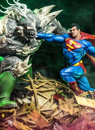 Superman Vs Doomsday Diorama 1/6 Dc Comics By Ivan Reis